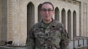 Army Captain Devan Smith holiday shout out