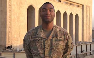 Army Sergeant Michael Lindsay holiday shout out