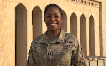 Army Captain Jessica Jackson holiday shout out