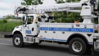 USACE contractors install electric poles in Luquillo, PR