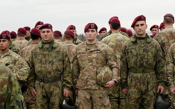 173rd Airborne Brigade Jumps with Serbia