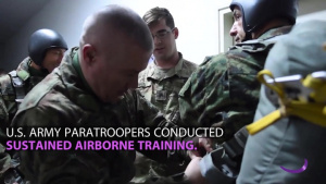 U.S., Serbian Paratroopers Train Together During Exercise Double Eagle