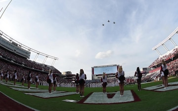 SCANG Jets Perform Football Game Flyover