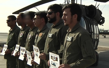 Afghan Air Force Black Hawk Pilot Graduation