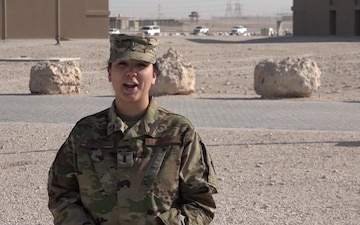 "2nd Lt. Jenna Lenski's Thanksgiving ""Shout Out"""