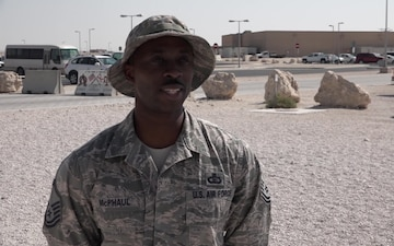 """Master Sgt. LeMario McPhaul's Thanksgiving """"Shout Out"""""""