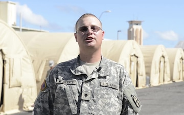 Spc Nicholas Wunderle Gives a Shout Out for Thanksgiving