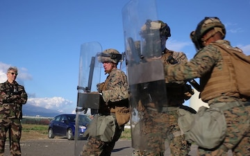 GCE Marines Hone Non-lethal Crowd Control Techniques