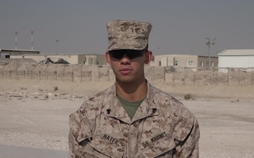 "Cpl. Ronald Nater's Thanksgiving ""Shout Out"""