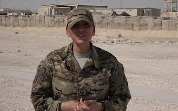Staff Sgt. Isela Gonzalez Gives a Thanksgiving Shout Out