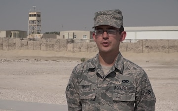 Airman 1st Class Carlos Ramirez Gives a Thanksgiving Shout Out