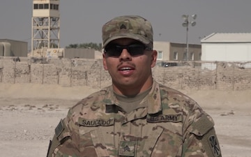 Sgt. Rafael Saucedo's Thanksgiving Shout Out