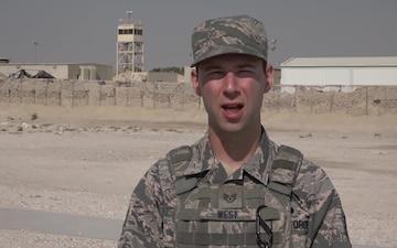Staff Sgt. Garrett West's Thanksgiving Shout Out