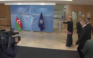Visit to NATO by the President of the Republic of Azerbaijan