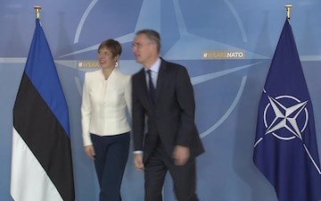 Arrival of Estonian President to NATO HQ