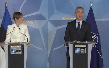 NATO SG and Estonian President Joint Press Briefing