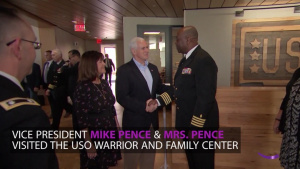 Pence Visits Injured Service Members