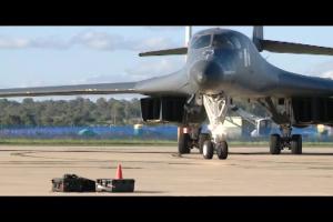 B1-B bombers arrive at RAAF Amberley