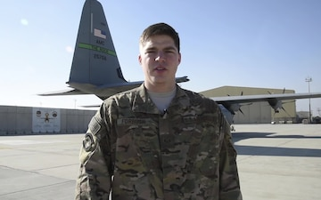 Staff Sgt. Mason Forbush NFL/Holiday Shout Outs-Pensacola, FL-New Orleans Saints