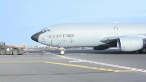 Fairchild Airmen tow aircraft during exercise
