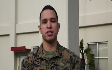 Lance Cpl. Jonathan Azucena Holiday Shout Out