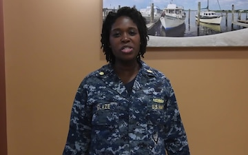 Lt. Cmdr. Krystal Glaze - Joint Base Charleston holiday shout outs