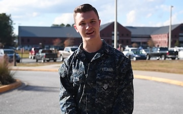 Petty Officer 3rd Class Kellen Kloss - Joint Base Charleston holiday shout outs