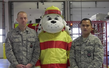 The Mountain Home Air Force Base Fire Department gives tips on how to safely fry a turkey
