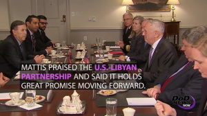 Mattis Welcomes Libyan Prime Minister