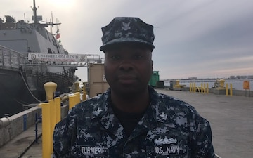 Yeoman 2nd Class Rashuan Turner, Holiday Greetings, Commander, Littoral Combat Ship Squadron ONE