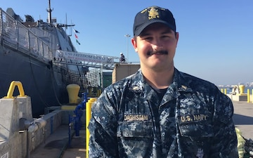 Ens. Leith Daghistani Sends Holiday Greetings, Commader, Littoral Combat Ship Squadron ONE