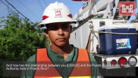 Sgt. Jonathan Quiñones, D Company 249th Engineer Battalion, talks about his work in Puerto Rico