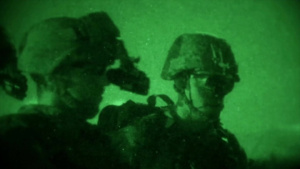 Marines conduct night operation