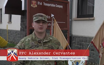 PFC Cervantes Sends Greetings to Family