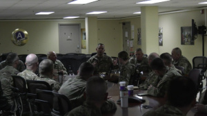 KSARNG Leadership Visits 635th Soldiers