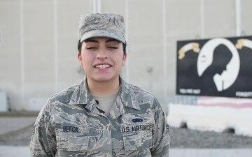Senior Airman Rae Ellen Beeck