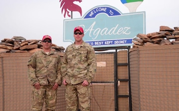 SMSgt Rohde and MSgt Eckert