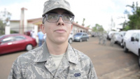 Interview in English: PRANG Airman Angel Ayala Rivera  talks about his experience during a supply mission in Orocovis