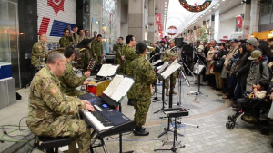 US Army I Corps band and the JGSDF Band play at Yama Sakura