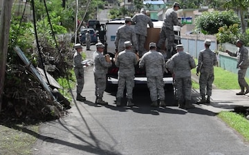 BROLL: Various Shots During Food and Supply Mission in the Town of Yabucoa, Puerto Rico