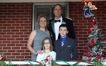 Holiday greetings from 2-23 commander, Lt. Col. Barnett and family