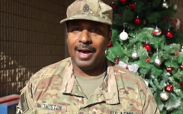 35th Infantry Division Holiday Greetings-Sergeant Major Linus Thuston