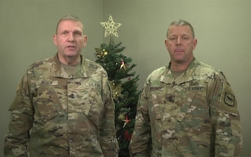 Holiday Greetings from the SD Adjutant General and Command Sergeant Major v.2