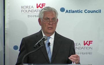Secretary of State Tillerson Delivers Remarks at the Atlantic Council