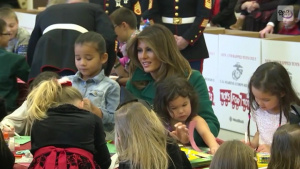First Lady Joins Kids for Toys for Tots