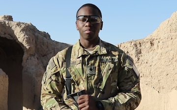 SPC LaDarious James Holiday Greeting