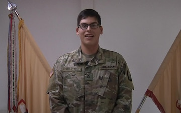 PFC Flores-Ferrell sends greeting to family