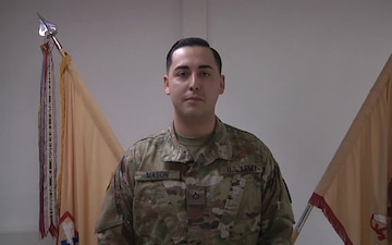 PFC Mason sends greeting to family