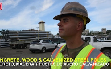 USACE Delivers Power Poles to Puerto Rico