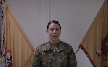 PFC Davila Sends Greetings to Family